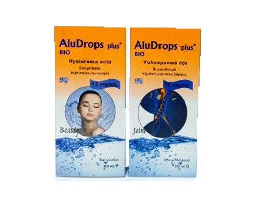 ALUDROPS PLUS Για τη λίπανση των  αρθρώσεων και την ενυδάτωση δέρματος και ματιών