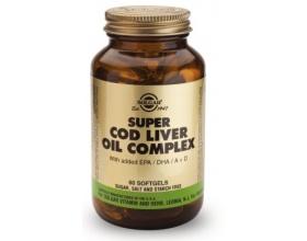 SUPER COD LIVER OIL COMPLEX Μουρουνέλαιο με υψηλό ποσοστό EPA και DHA καθώς και Α+ D