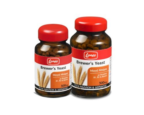 Lanes Brewers Yeast - Μαγιά Μπύρας, Ομορφιά, Για υγιή μαλλιά & δέρμα