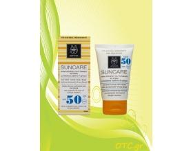 APIVITA Αντιηλιακή Κρέμα Προσώπου για τις Πανάδες με χρώμα SPF50