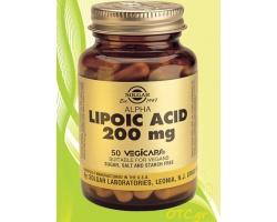 Solgar ALPHA LIPOIC ACID 200mg 50s veg.caps - Αποτοξινωτικό βαρέων μετάλλων-πανίσχυρο αντιοξειδωτικό