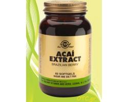 Solgar ACAI  EXTRACT softgels 60s - Αντιοξειδωτική, αντιγηραντική δράση