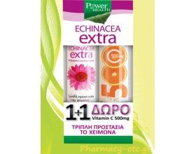 Power Health 1+1 Echinacea Extra 24tabs & ΔΩΡΟ Vitamin C 500mg 20tabs