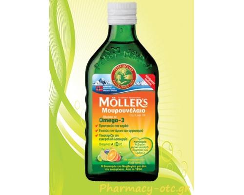 MOLLER'S Μουρουνέλαιο Tutti Frutti 250ml