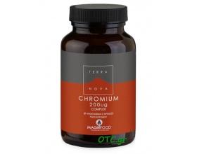 TERRANOVA Chromium 200ug Complex - για καλύτερο γλυκαιμικό έλεγχο