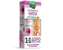 Power Health Echinacea Extra eff με Στέβια + δώρο vit c 500mg