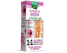 Power Health Echinacea Extra eff με Στέβια + δώρο vit c 500mg