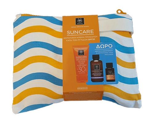 Apivita Αντιηλιακή - Αντιρυτιδική Κρέμα Προσώπου Ελαφριάς Υφής SPF 30