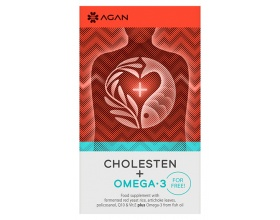 AGAN CHOLESTEN 30 vegicaps & OMEGA-3 1000 mg 30 soft gels