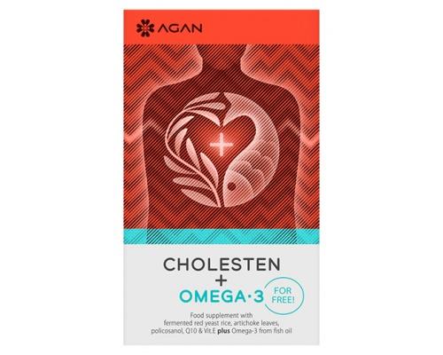 AGAN CHOLESTEN 30 vegicaps & OMEGA-3 1000 mg 30 soft gels