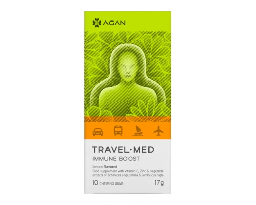 AGAN TRAVEL-MED IMMUNE BOOST, 10 chewing gums