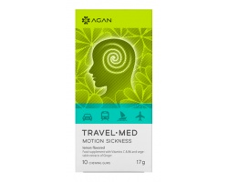 AGAN TRAVEL-MED MOTION SICKNESS, 10 chewing gums