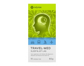 AGAN TRAVEL-MED SLEEP & JET LAG, 10 chewable tabs