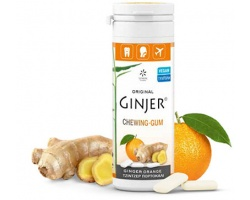 Ginger Τσίχλες - Με πορτοκάλι και εκχύλισμα τζίντζερ 2,9%