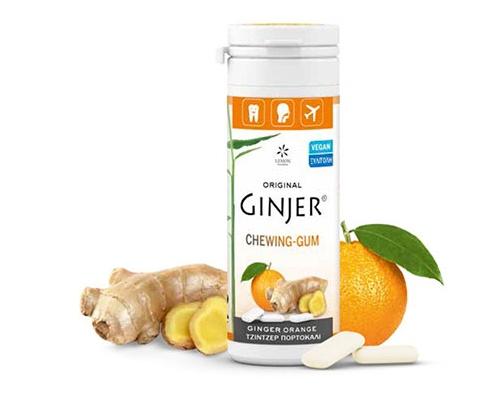 Ginger Τσίχλες - Με πορτοκάλι και εκχύλισμα τζίντζερ 2,9%