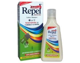 REPEL Anti-Lice Restore - Αντιφθειρική Αγωγή Σαμπουάν σε μορφή Λοσιόν και Χτενάκι