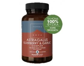 TERRANOVA Astragalus, Elderberry & Garlic Resistance Support Complex - Ανοσοποιητικό, Κρυολόγημα, Καρδιά, Κυκλοφορικό