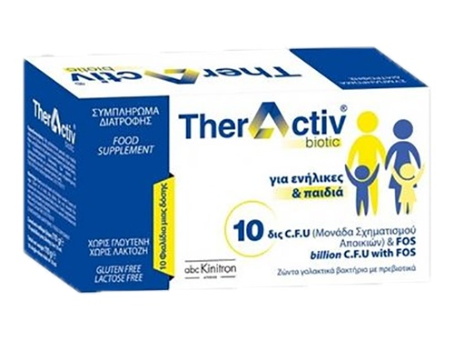 Theractiv Biotic - Συμπήρωμα διατροφής με προβιοτικά και πρεβιοτικά