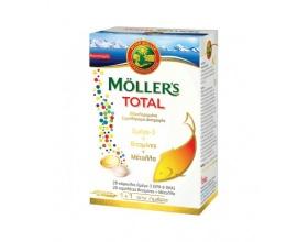 MOLLER'S Total – Me Ωμέγα 3, Βιταμίνες και Μέταλλα * 28 Tabs + 28 Caps