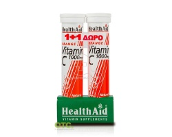 HEALTH AID Vitamin C 1000mg ( 1+1 ΔΩΡΟ )  20 eff. Tabs