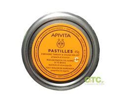 APIVITA Παστίλιες με Πρόπολη και Γλυκύρριζα για τον Πονόλαιμο και το βήχα